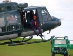 Hubschrauber gestützte Shows und Seilaktionen